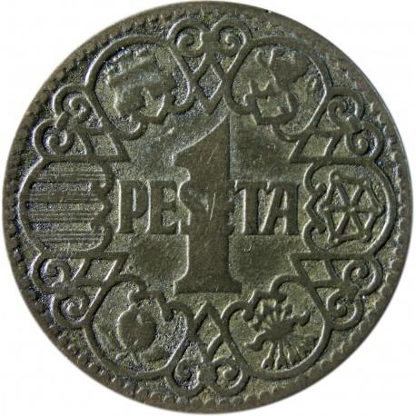 Hiszpania 1 peseta, 1944, stan 3
