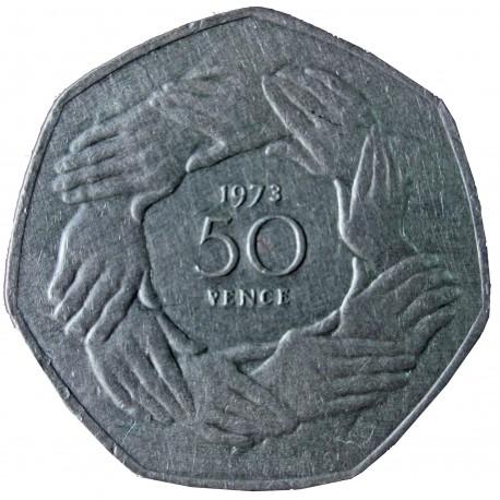 Wielka Brytania 50 pensów, 1973 Wstąpienie do Europejskiej Wspólnoty Gospodarczej
