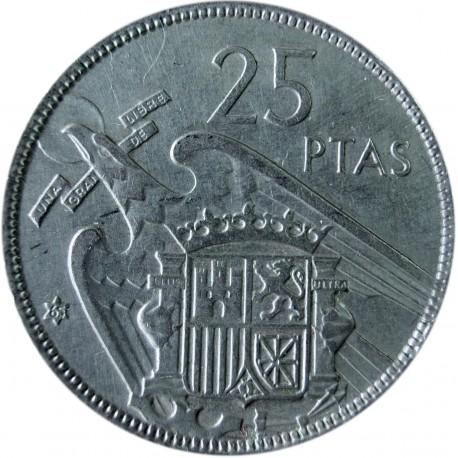 Hiszpania 25 peset, 1957, stan 3