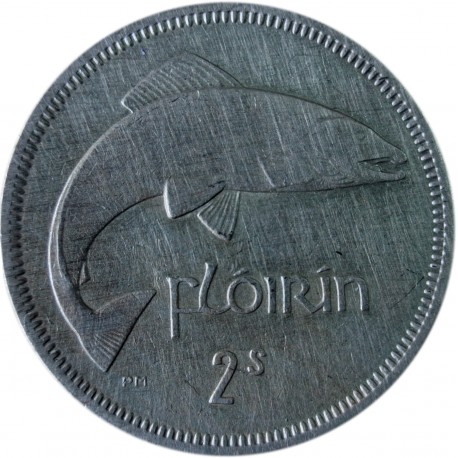 Irlandia 2 szylingi (floren), 1964