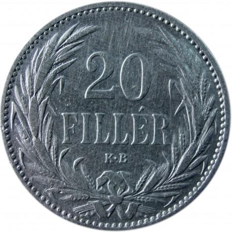 Węgry 20 fillerów, 1894