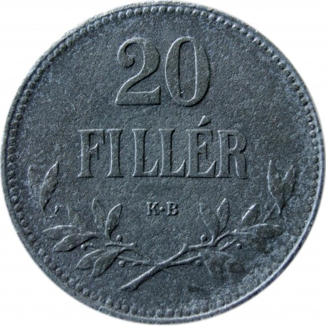 Węgry 20 fillerów, 1916