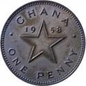 Ghana 1 pens, 1958