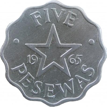Ghana 5 pesewa, 1965