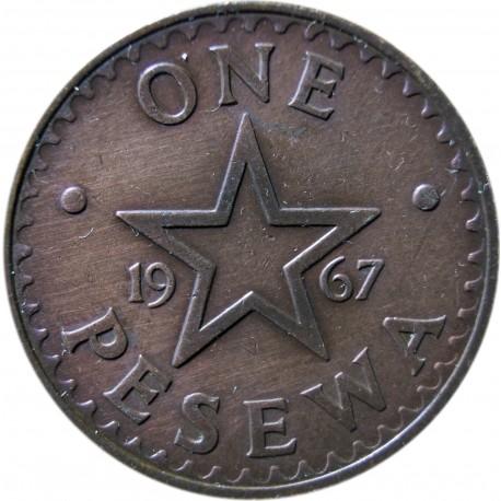 Ghana 1 pesewa, 1967