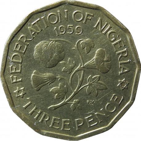 Nigeria 3 pensy, 1959