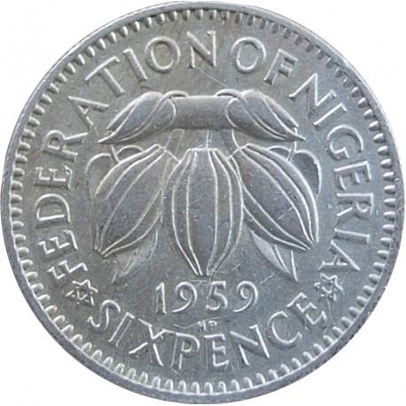 Nigeria 6 pensów, 1959