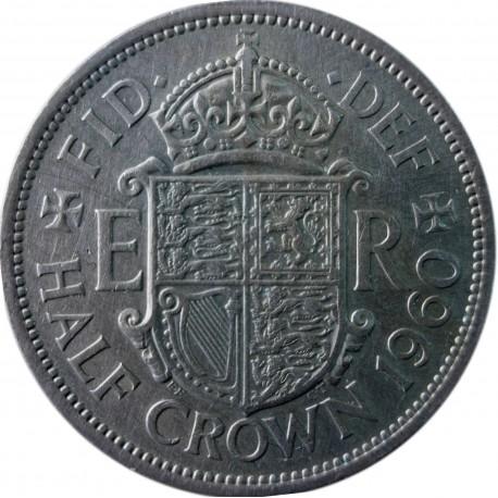 Wielka Brytania ½ korony, 1960