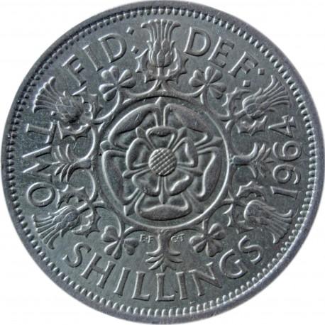 Wielka Brytania 2 szylingi (floren), 1964