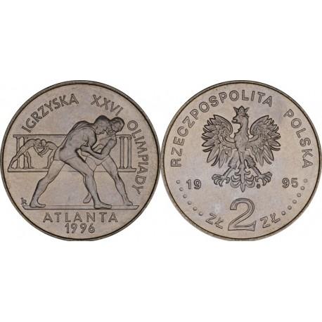 2 zł Igrzyska XXVI Olimpiady - Atlanta 1996 - Zapaśnicy