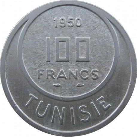 Tunezja 100 franków, 1950
