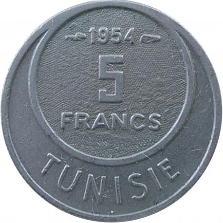 Tunezja 5 franków, 1954