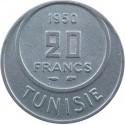 Tunezja 20 franków, 1950