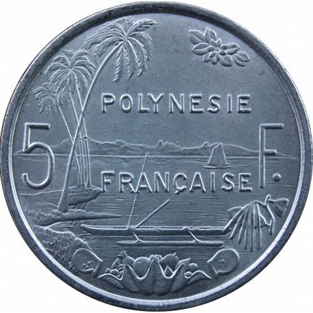 Polinezja Francuska 5 franków, 1975