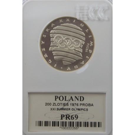 200 zł XXI Igrzyska Olimpijskie próba 1976, PR69 GCN