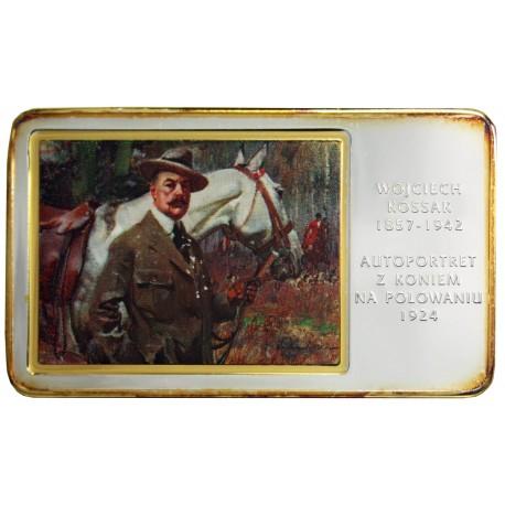 Medal Wojciech Kossak - Autoportret z koniem na polowaniu (Arcydzieła Malarstwa Polskiego)