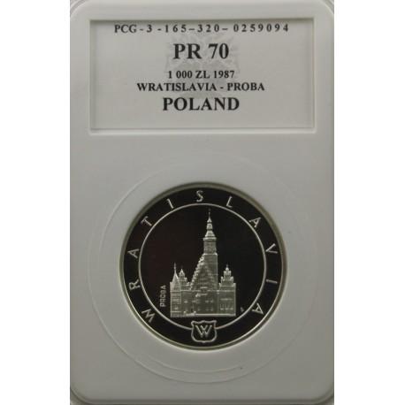 1000 zł Wratislavia próba 1987, PR70