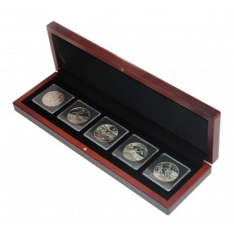 Etui na pięć monet w kapsułach quadrum