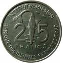 Francuska Afryka Zachodnia 25 franków, 1957