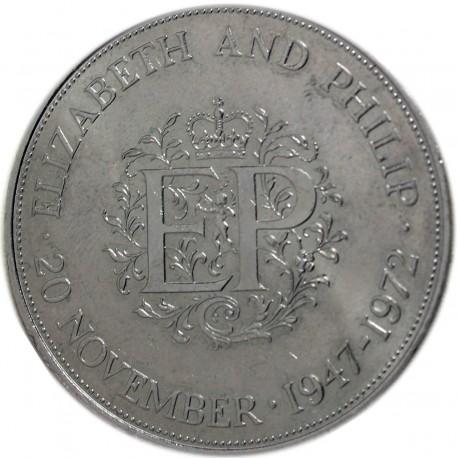 Wielka Brytania 25 pensów, 1972 Królewskie srebrne wesele