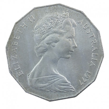 Australia 50 centów 1977 srebrny jubileusz