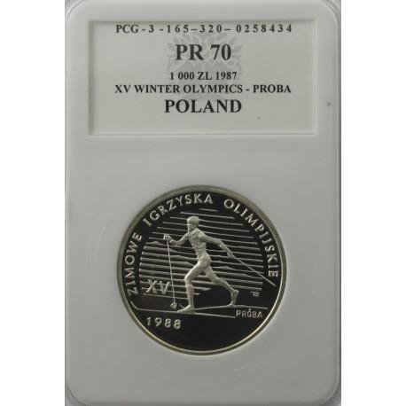 1000 zł XV zimowe igrzyska Próba 1988, PR70