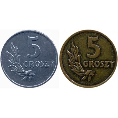 5 groszy 1949, brąz i aluminium