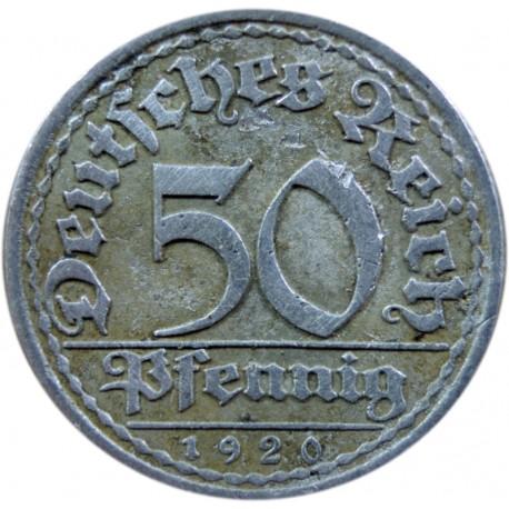 50 fenigów 1920, stan 4
