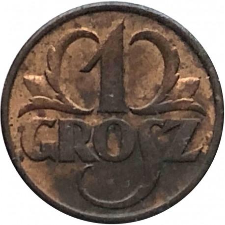 1 grosz, 1937, stan 2-