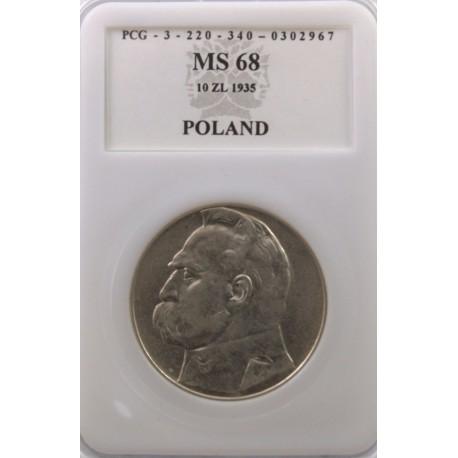 10 zł Piłsudski 1935 MS68