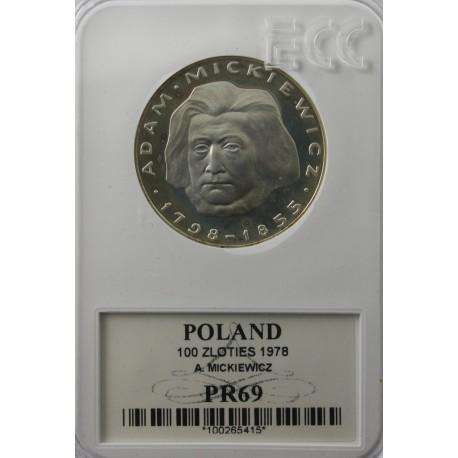 100 zł Mickiewicz 1978 PR69
