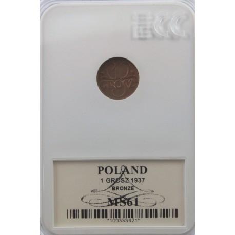 1 grosz 1937 MS61