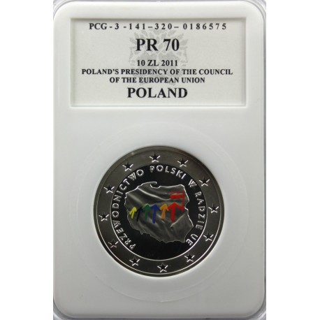 10 zł Przewodnictwo Polskie w Radzie UE PR70