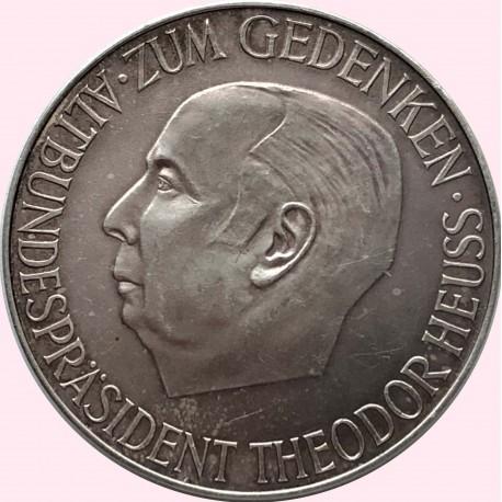 Srebrny medal - pamięci Prezydenta Federalnego Niemiec Theodora Heussa - 1963 r.