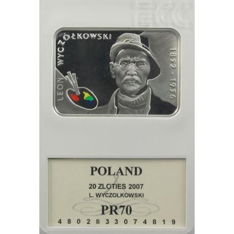 20 zł, Leon Wyczółkowski - malarze polscy, PR70