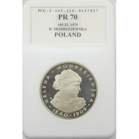 100 zł Helena Modrzejewska PR70