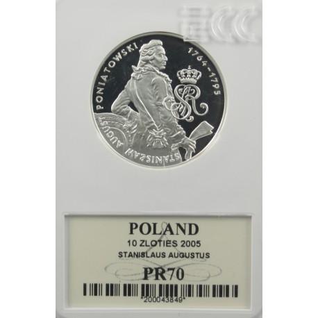 10 zł, Stanisław August Poniatowski - półpostać PR70