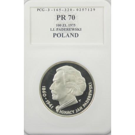 100 zł, Ignacy Jan Paderewski, PR70