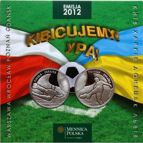'Kibicujemy' polsko-ukraiński zestaw numizmatów na Euro 2012