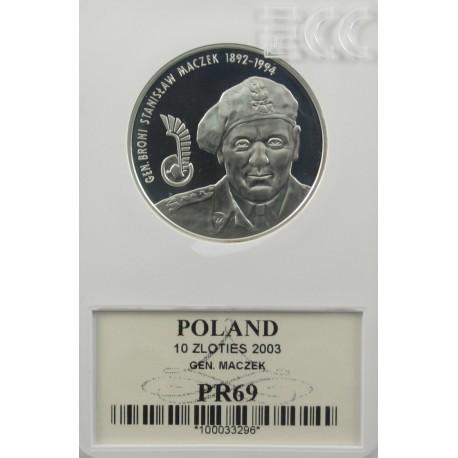 10 zł Generał Broni Stanisław Maczek PR69