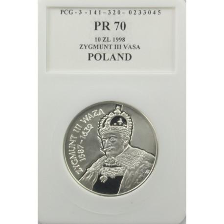 10 zł Zygmunt III Waza popiersie PR70