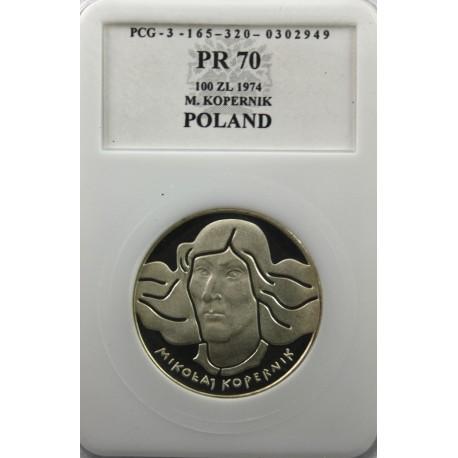 100 zł Mikołaj Kopernik 1974, PR70