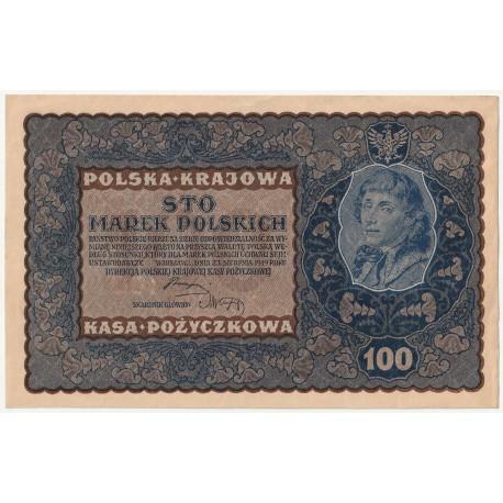 100 marek 1919, ID Seria M, Nr 586245, stan 2