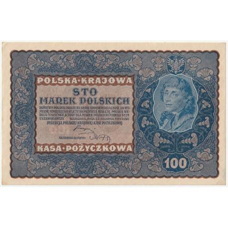 100 marek 1919 stan 2, IA Serja W 634489