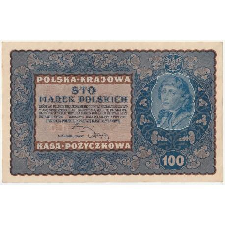 100 marek 1919 stan 2+, IA Serja W 634490