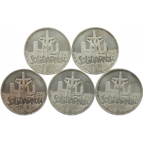 5 x 100000zł Solidarność 1990, stan 2