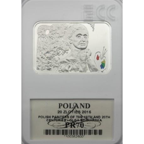 20 zł, Polscy malarze XIX/XX w. – Olga Boznańska, PR70