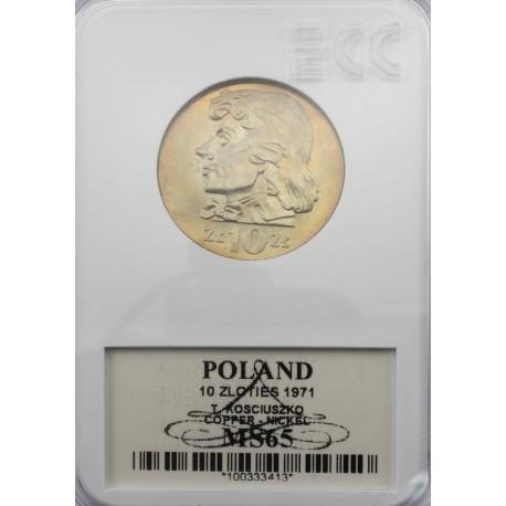 10 zł Tadeusz Kościuszko 1971, MS65