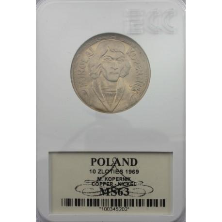 10zł Mikołaj Kopernik 1969, MS63