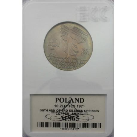 10zł 50 rocznica Powstania Śląskiego 1971, MS65